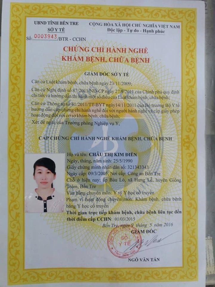 Bác sĩ Châu Thị Kim Điền