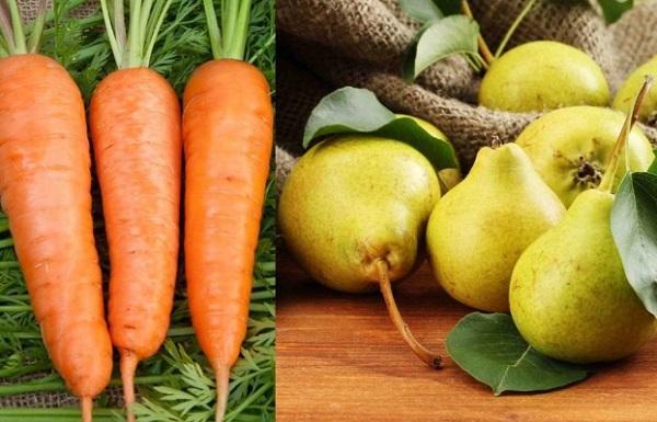 Món ăn trị hen suyễn - Cà rốt và lê
